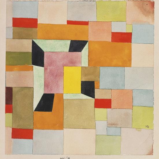 Split Coloured Rectangles-Paul Klee-Premium Giclee Print