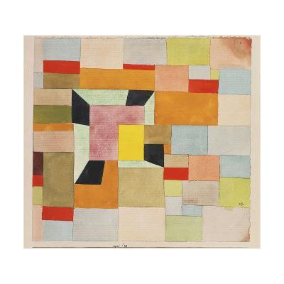 Split Coloured Rectangles-Paul Klee-Giclee Print