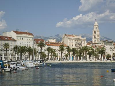 Split Harbor Late Afternoon, Central Dalmatia, Croatia-Walter Bibikow-Photographic Print