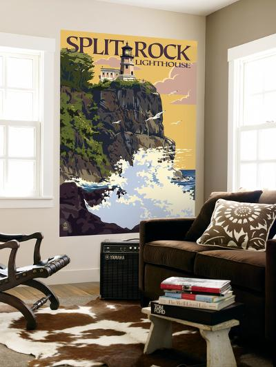 Split Rock Lighthouse - Minnesota-Lantern Press-Wall Mural