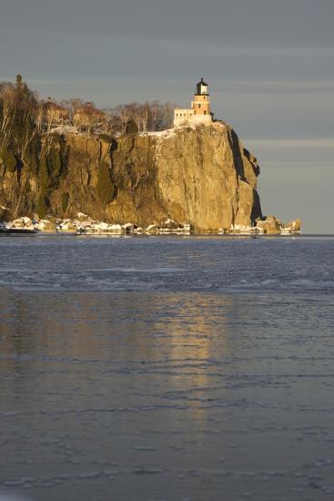Split Rock Lighthouse on Lake Superior in Winter; Minnesota, USA-Design Pics Inc-Photographic Print