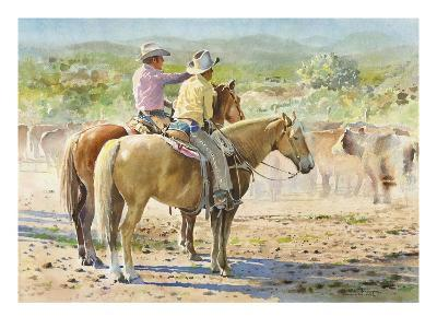 Splitting the Herd-LaVere Hutchings-Giclee Print