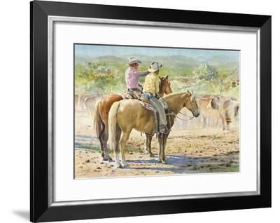 Splitting the Herd-LaVere Hutchings-Framed Giclee Print