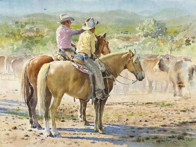 Splitting the Herd-LaVere Hutchings-Giclee Print