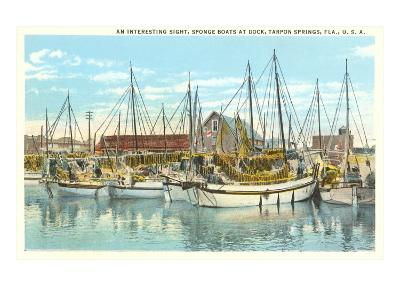 Sponge Boats, Tarpon Spring, Florida--Art Print