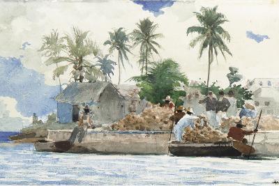Sponge Fisherman, Bahamas-Winslow Homer-Giclee Print