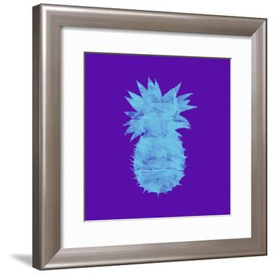 Sponge Pineapple Aqua-Tina Lavoie-Framed Giclee Print