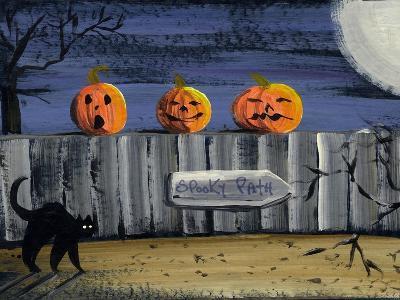 Spooky Path Jack O Lantern Pumpkins-sylvia pimental-Art Print