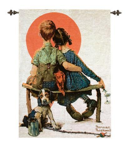 Spooners-Norman Rockwell-Wall Tapestry