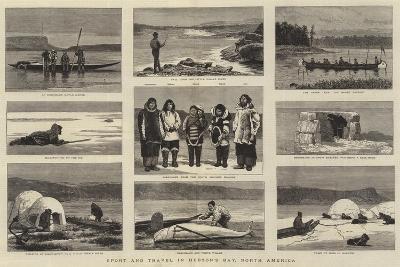 Sport and Travel in Hudson's Bay, North America-Joseph Nash-Giclee Print