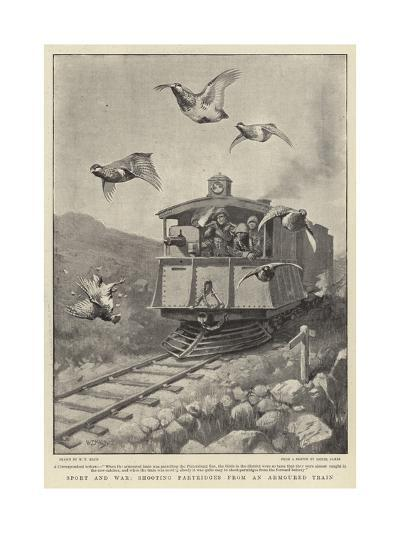 Sport and War, Shooting Partridges from an Armoured Train-William T^ Maud-Giclee Print