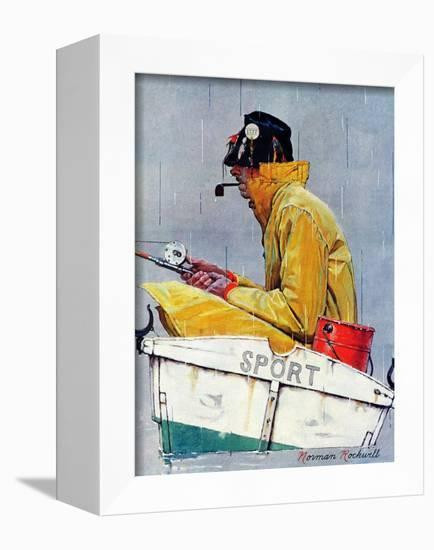 """""""Sport"""", April 29,1939-Norman Rockwell-Framed Stretched Canvas Print"""