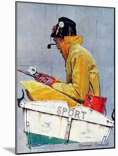 """""""Sport"""", April 29,1939-Norman Rockwell-Mounted Premium Giclee Print"""