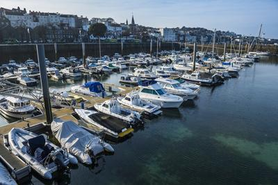 Sport Boat Harbour in Saint Peter Port, Guernsey, Channel Islands, United Kingdom-Michael Runkel-Photographic Print
