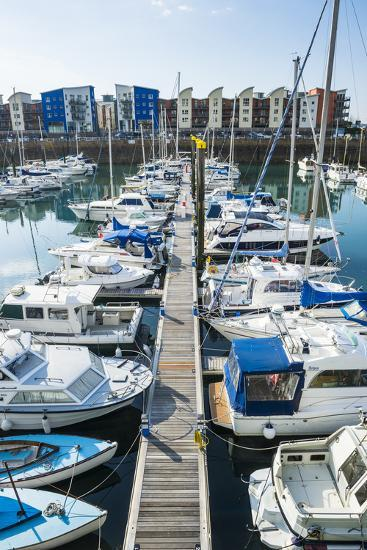 Sport Boat Harbour, St. Helier, Jersey, Channel Islands, United Kingdom, Europe-Michael Runkel-Photographic Print