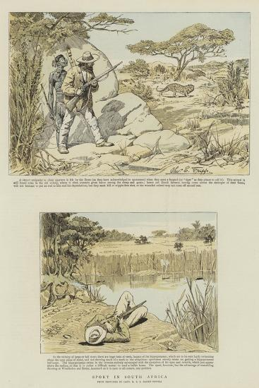 Sport in South Africa-Charles Edwin Fripp-Giclee Print