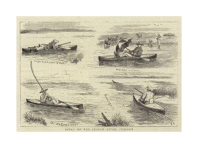 Sport on the Jhelum River, Punjaub--Giclee Print