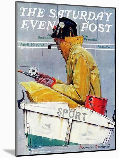 """""""Sport"""" Saturday Evening Post Cover, April 29,1939-Norman Rockwell-Mounted Giclee Print"""