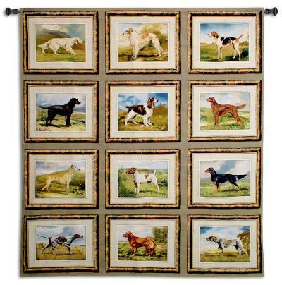 Sporting Dogs--Wall Tapestry