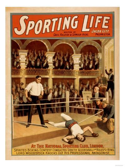 """Sporting Life"" Boxing Theatrical Play Poster-Lantern Press-Art Print"
