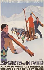 Sports D'Hiver, French Plm Ski Poster