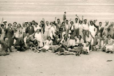 Sports Day for the Gloucester Hotel Party on La Publente Beach, Jersey, 1938--Photographic Print