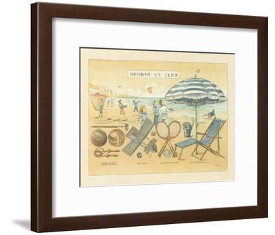 Sports et Jeux I-Laurence David-Framed Art Print