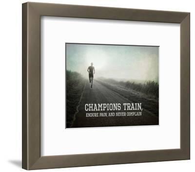 Champions Train Man Black and White