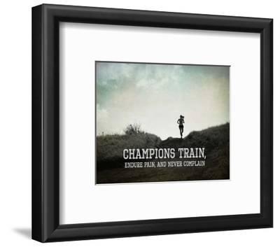 Champions Train Woman Black and White