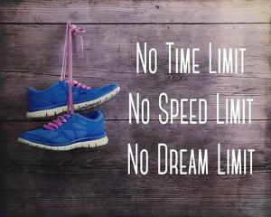 No Time Limit No Speed Limit No Dream Limit Blue Shoes by Sports Mania