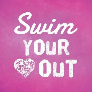 Swim Your Heart Out - Pink by Sports Mania