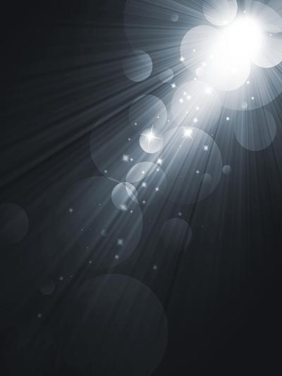 Spotlight Black And White Lighting Equipment-molodec-Art Print