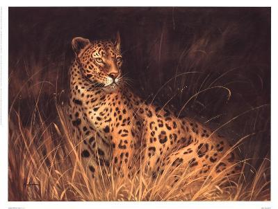 Spotted African Cat--Art Print