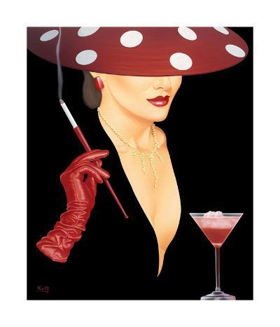 Spotted Hat Lady I-Gerard Kelly-Giclee Print