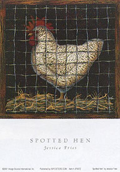 Spotted Hen-Jessica Fries-Art Print