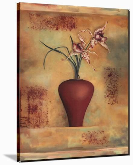 Spotted Orchid in Vase-Louise Montillio-Stretched Canvas Print