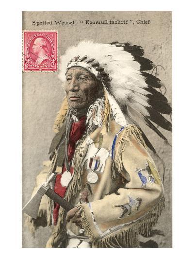 Spotted Weasel, Ecureuil Tachete, Plains Chief--Art Print
