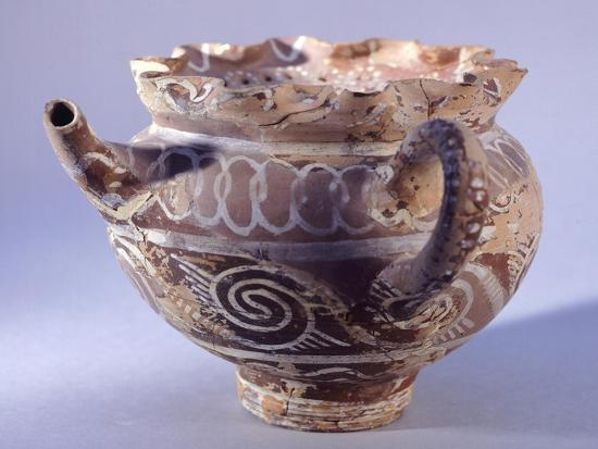 Spout Vase, Kamares-Style Pottery from Phaistos Palace, Crete--Giclee Print