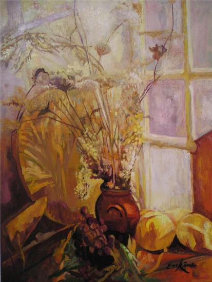 Spray in a Vase, Tuscany Window-John Erskine-Giclee Print