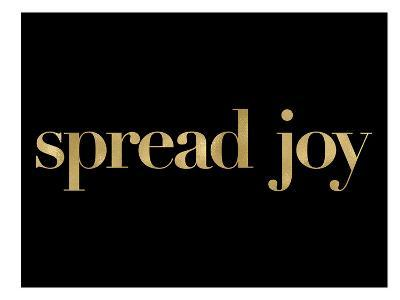 Spread Joy Golden Black-Amy Brinkman-Art Print