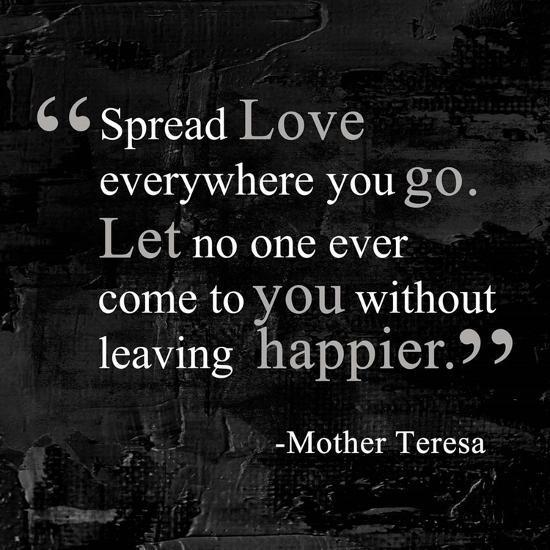 Spread Love-Quote Master-Art Print