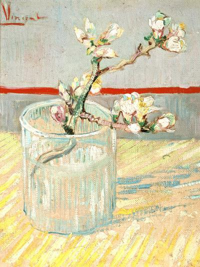 Sprig of Flowering Almond Blossom in a Glass, 1888-Vincent van Gogh-Giclee Print
