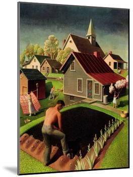 """""""Spring 1942,"""" April 18, 1942-Grant Wood-Mounted Giclee Print"""