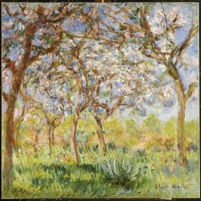 Spring at Giverny-Claude Monet-Giclee Print