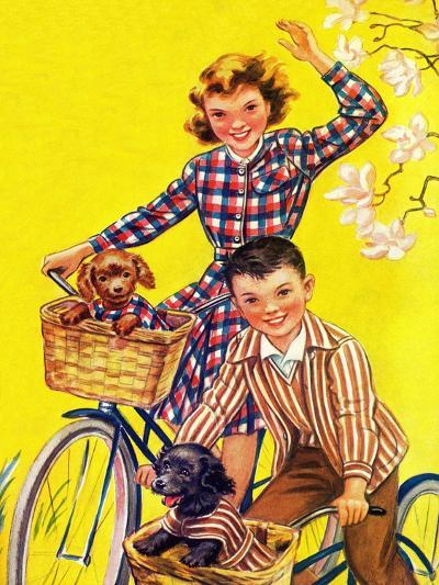 Spring Bike Ride - Child Life-Katherine Wireman-Giclee Print