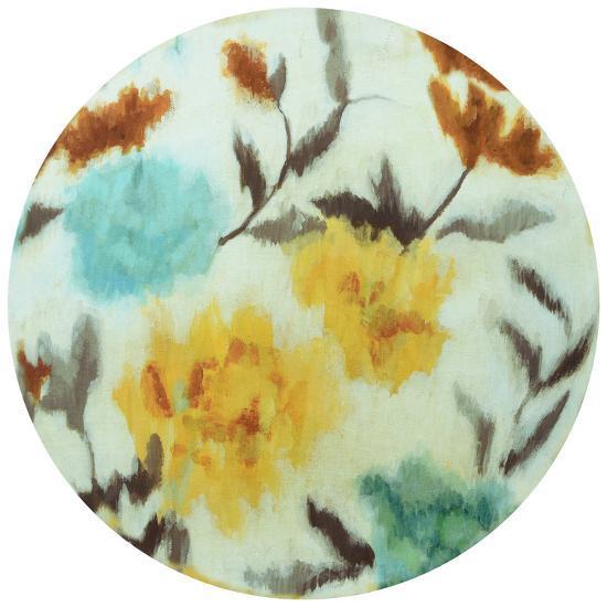 Spring Bouquet - Circular Canvas Giclee Printed on 2 - Wood Stretcher Wall Art--Alternative Wall Decor