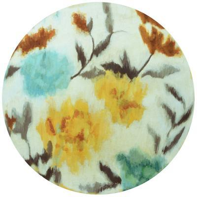 Spring Bouquet - Circular Canvas Giclee Printed on 2 - Wood Stretcher Wall Art