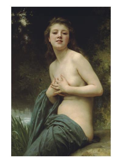 Spring Breeze-William Adolphe Bouguereau-Art Print