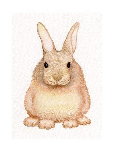 Spring Bunny I White-Kathleen Parr McKenna-Art Print