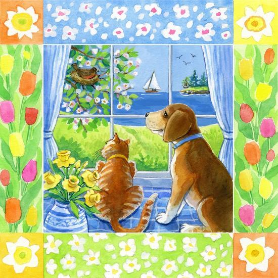 Spring Cat and Dog-Geraldine Aikman-Giclee Print